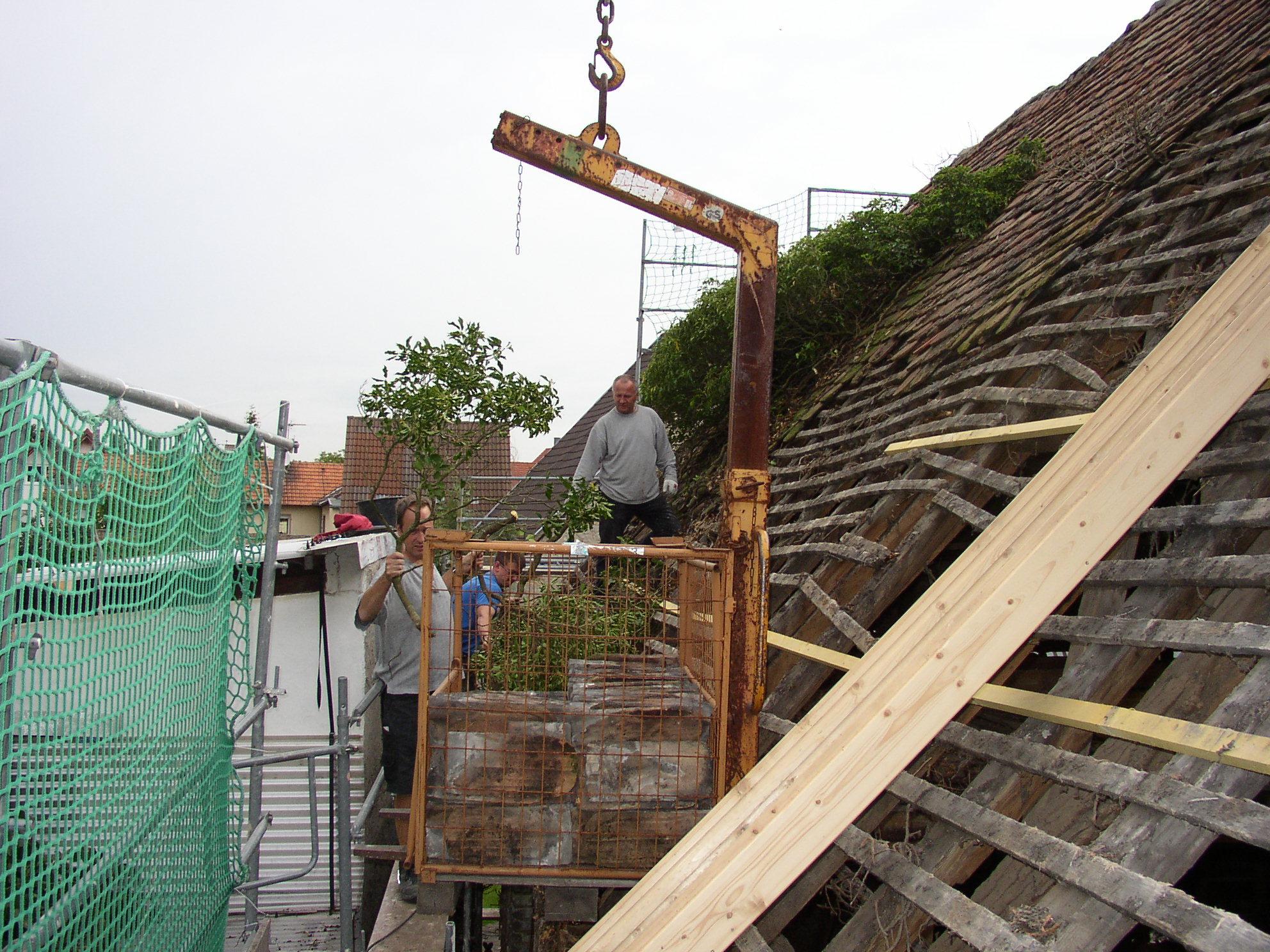 Die Sanierung des Dachstuhls