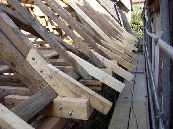 Sanierung traufpunkt jan wenner - Holzbalken verkleiden ...